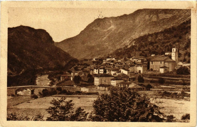 Carte postale ancienne Roquesteron-Puget à Roquestéron