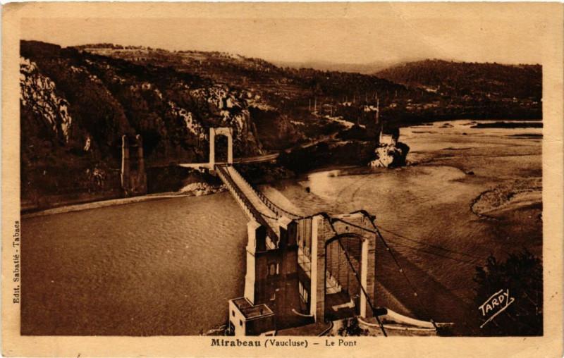 Carte postale ancienne Mirabeau - Le Pont à Mirabeau