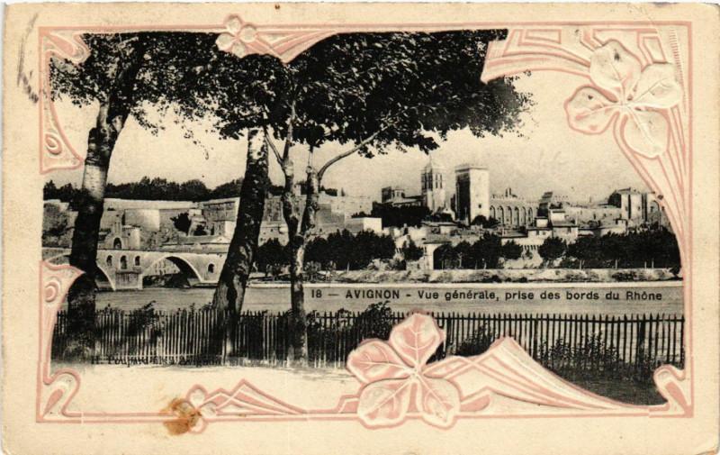 Carte postale ancienne Avignon - Vue générale à Avignon