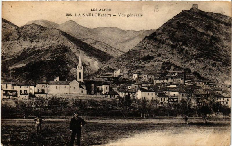 Carte postale ancienne La Saulce (585 m) - Vue générale à La Saulce