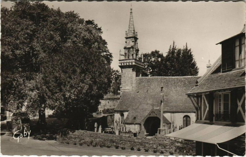 Carte postale ancienne Locquenole - L'Eglise à Locquénolé