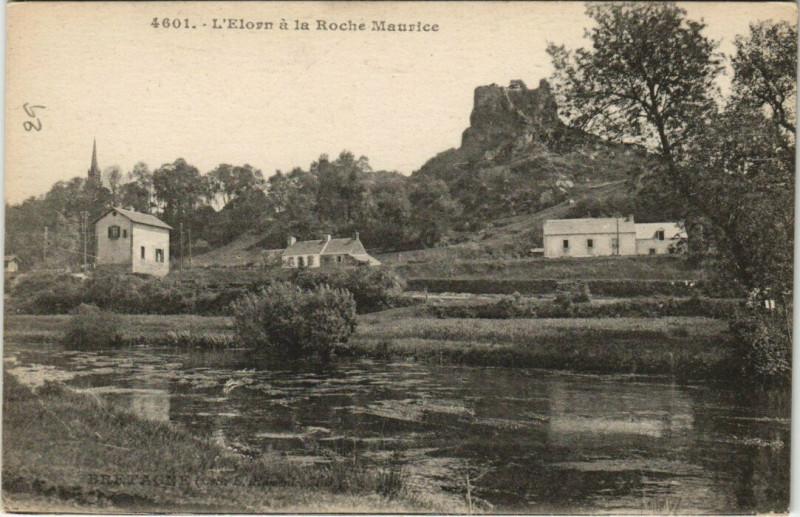 Carte postale ancienne L'Elorn a la Roche Maurice à La Roche-Maurice