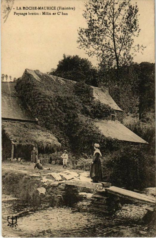 Carte postale ancienne La Roche-Maurice - Paysage Breton - Milin ar C'han à La Roche-Maurice