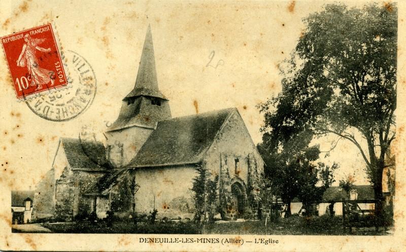 Carte postale ancienne L'Eglise à Deneuille-les-Mines