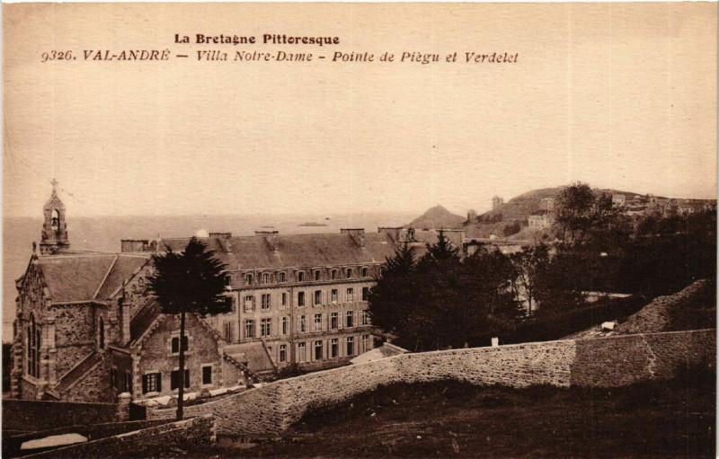 Carte postale ancienne Val-Andre - Villa N.-D. - Pointe de Piegu et Verdelet