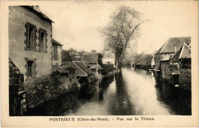 Carte postale ancienne Pontrieux - Vue sur le Trieux à Pontrieux