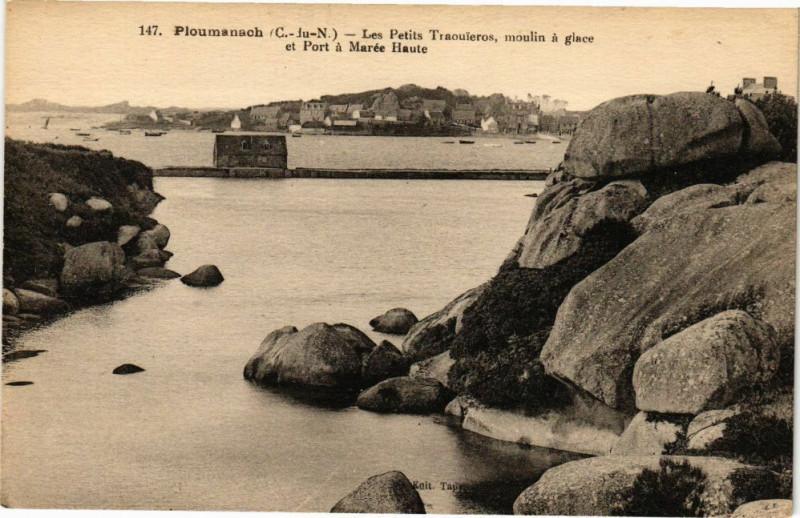 Carte postale ancienne Ploumanach-Les Petits Traouieros à