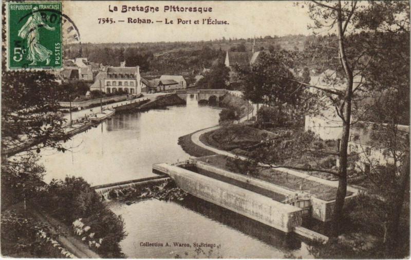 Carte postale ancienne Rohan Port et Ecluse à Rohan