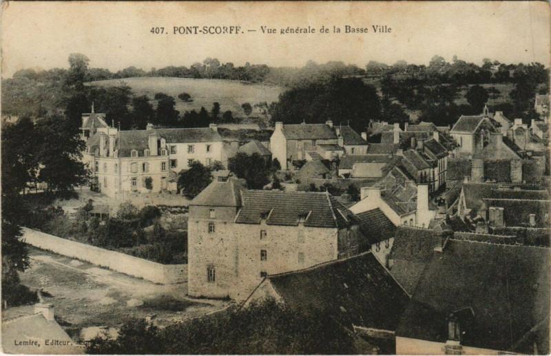 Carte postale ancienne Pont-Scorff vue générale à Pont-Scorff