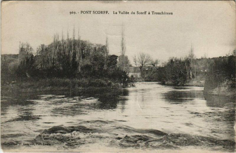 Carte postale ancienne Pont-Scorff Tronchateau à Pont-Scorff