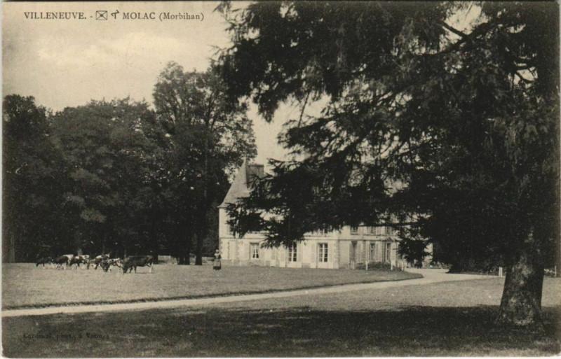 Carte postale ancienne Villeneuve-Molac-Morbihan à Molac