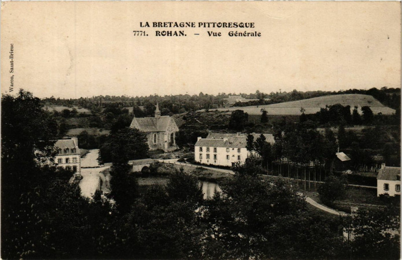 Carte postale ancienne Rohan - Vue générale à Rohan