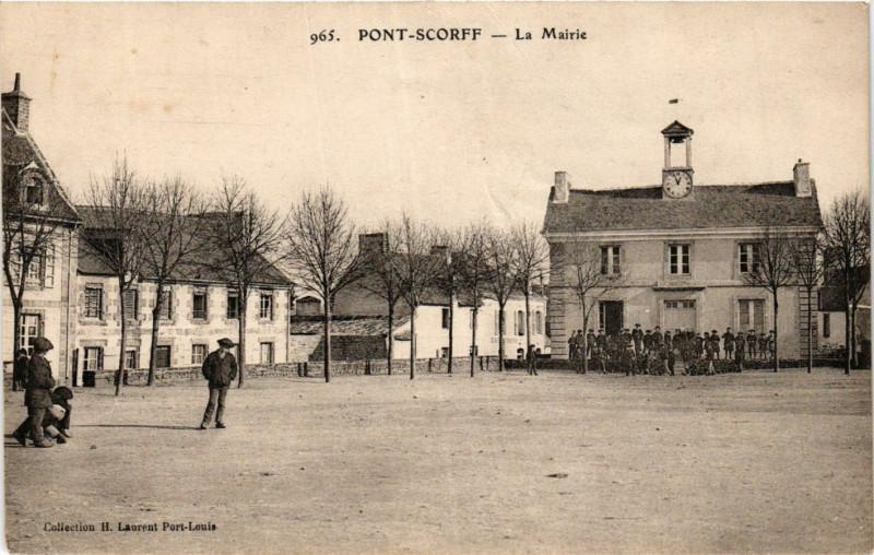 Carte postale ancienne Pont-Scorff - La Mairie à Pont-Scorff