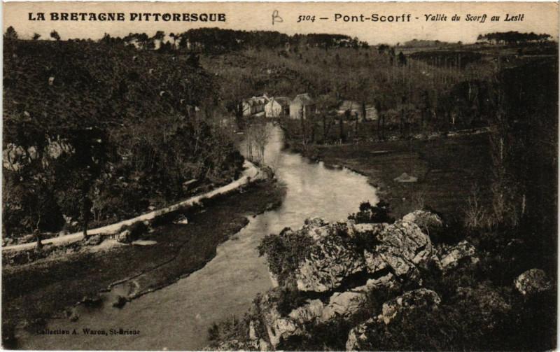 Carte postale ancienne La Bretagne Pittoresque - Pont-Scorff - Vallée du Scorff au Lesle à Pont-Scorff