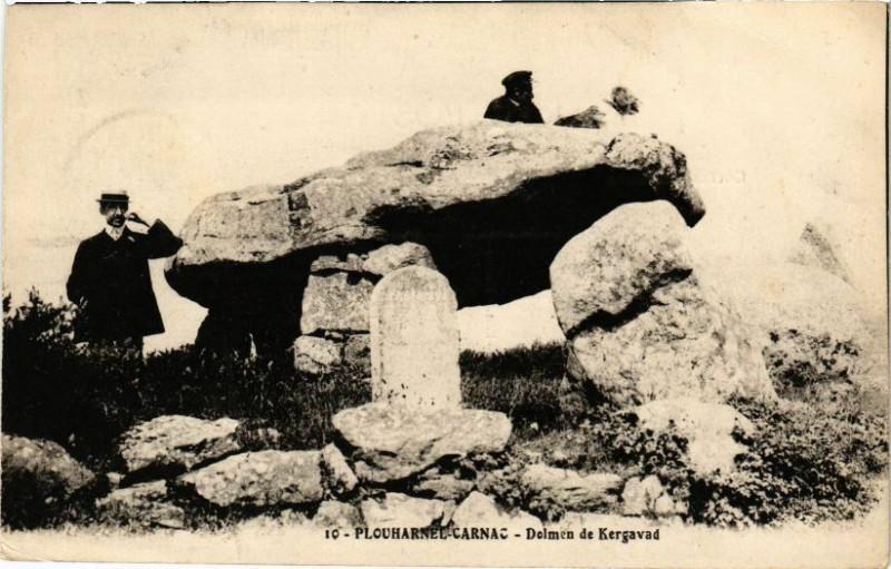Carte postale ancienne Plouharnel-Carnac - Dolmen de Kergavac à Plouharnel