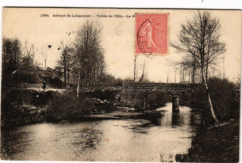 Carte postale ancienne Abbaye de Langonnet - Vallée de l'Elle à Langonnet