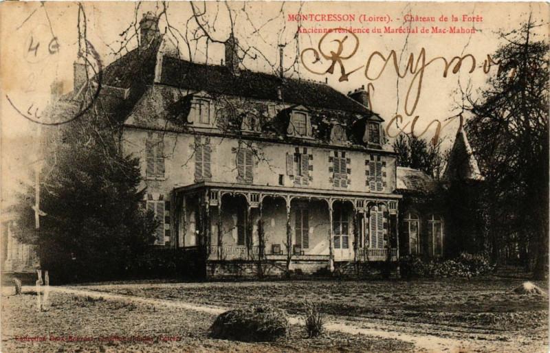 Carte postale ancienne Montcresson - Chateau de la Foret à Montcresson