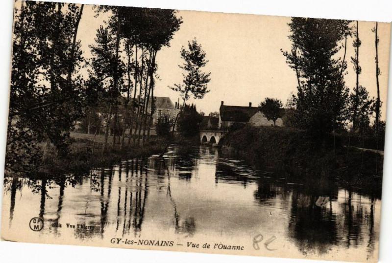 Carte postale ancienne Gy-les-Nonains - Vue de l'Ouanne à Gy-les-Nonains
