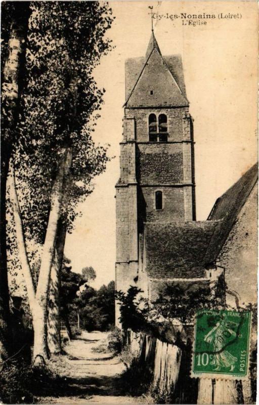 Carte postale ancienne Gy-les-Nonains - L'Eglise à Gy-les-Nonains