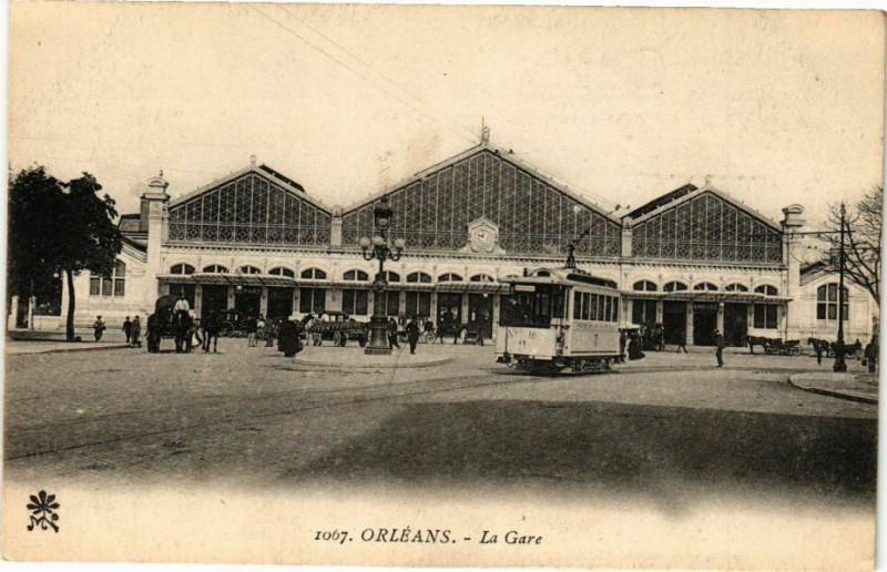Carte postale ancienne Orleans-La Gare à Orléans
