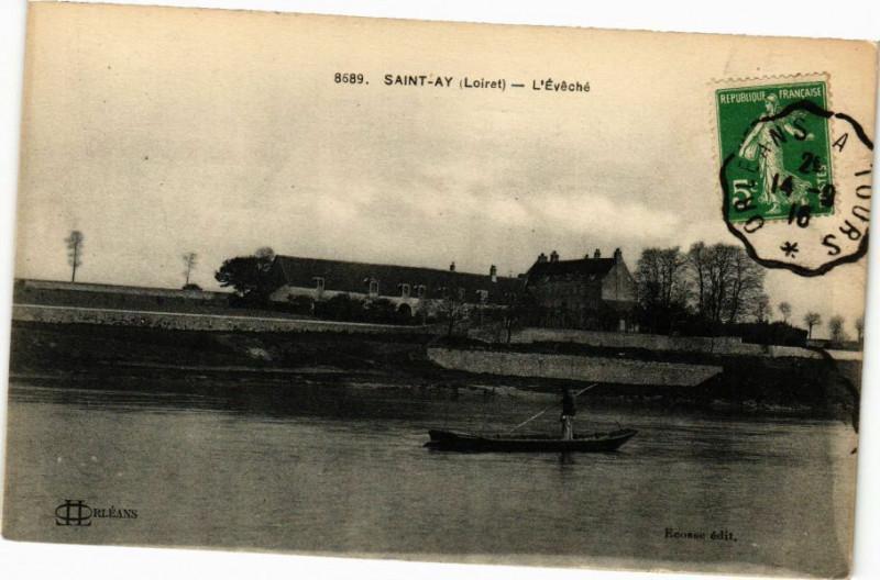 Carte postale ancienne L'Evêché à Saint-Ay