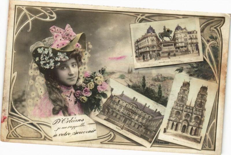 Carte postale ancienne D'Orleans je me rapelle a votre Souvenir à