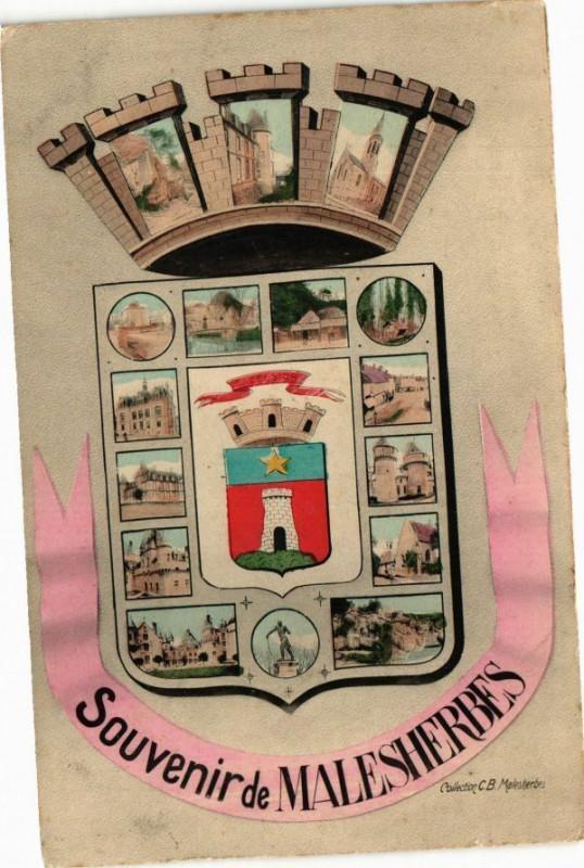 Carte postale ancienne Souvenir de Malesherbes à