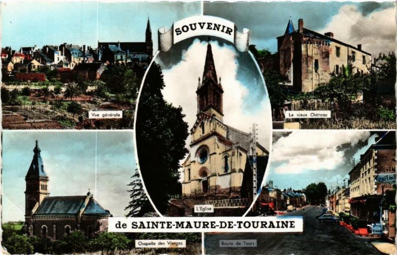 Carte postale ancienne Souvenir de Sainte-Maure-de-Touraine à Sainte-Maure-de-Touraine