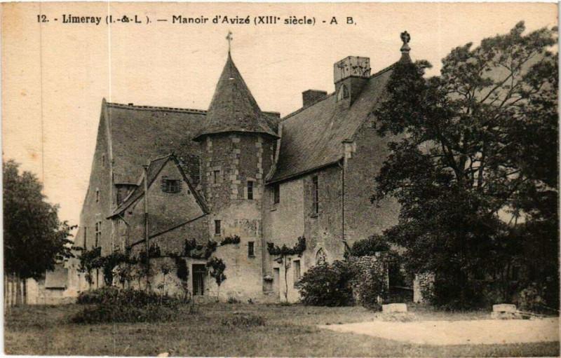 Carte postale ancienne Limeray Manoir d'Avize à Limeray