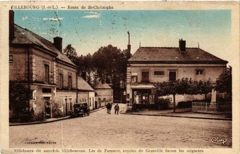 Carte postale ancienne Villebourg Route de St-Christophe à Villebourg