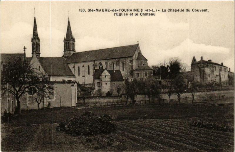 Carte postale ancienne Sainte-Maure-de-Touraine La Chapelle du Couvent, Eglise à Sainte-Maure-de-Touraine