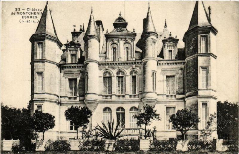 Carte postale ancienne Chateau de Montchenin Esvres à Esvres