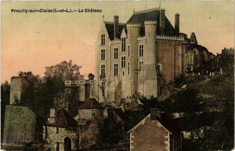 Carte postale ancienne Preuilly-sur-Claise Le Chateau à Preuilly-sur-Claise