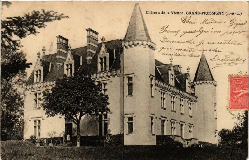 Carte postale ancienne Le Grand Pressigny Chateau de la Vienne à Le Grand-Pressigny