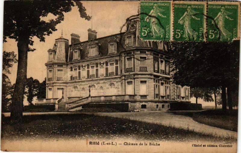 Carte postale ancienne Rille Chateau de la Briche à Rillé