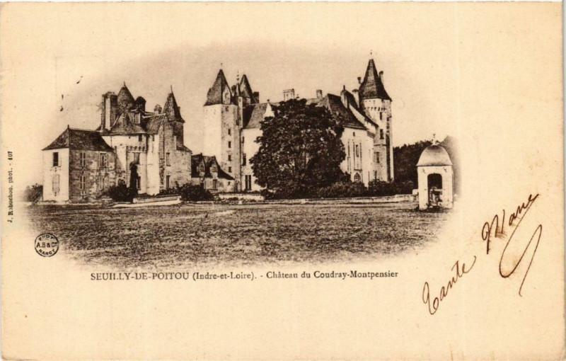 Carte postale ancienne Seuilly-de-Poitou Chateau de Coudray-Montpensier à Seuilly