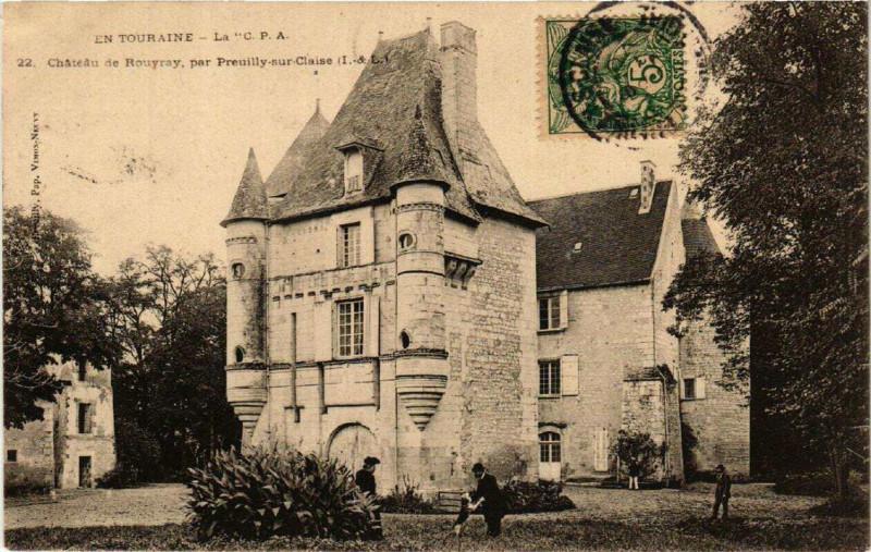 Carte postale ancienne Chateau de Rouyray, par Preuilly-sur-Claise à Preuilly-sur-Claise