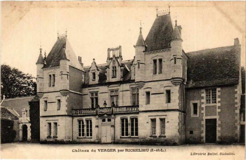 Carte postale ancienne Richelieu Chateau du Verger à Richelieu