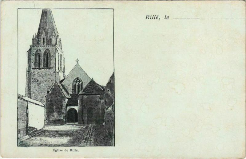 Carte postale ancienne Eglise de Rille à Rillé