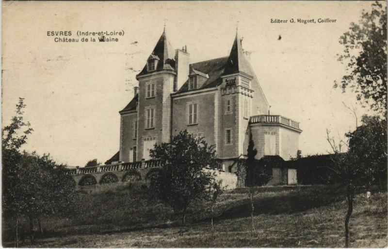 Carte postale ancienne Esvres - Chateau de la vilaine à Esvres