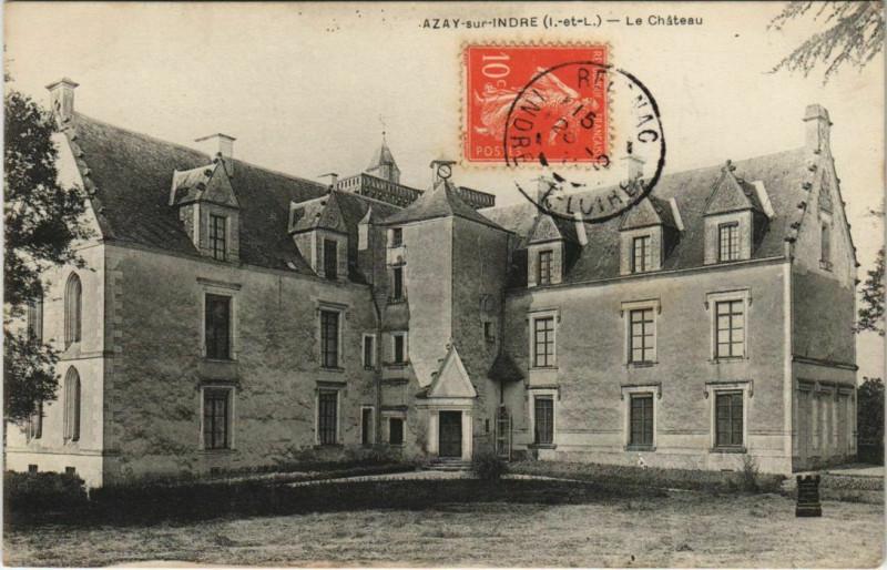 Carte postale ancienne Azay-sur-indre - le Chateau à Azay-sur-Indre