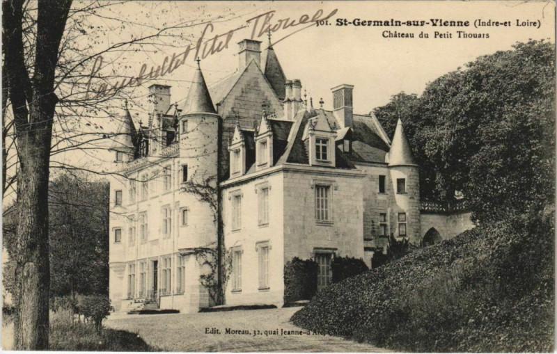 Carte postale ancienne Saint-Germain-sur-Vienne - Chateau du petit thouars à Saint-Germain-sur-Vienne