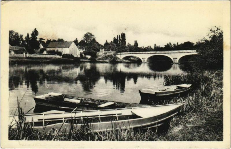 Carte postale ancienne Blere - Paysage sur le cher à Bléré