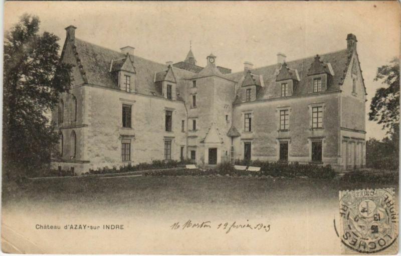 Carte postale ancienne Chateau D'Azay-sur-Indre à Azay-sur-Indre