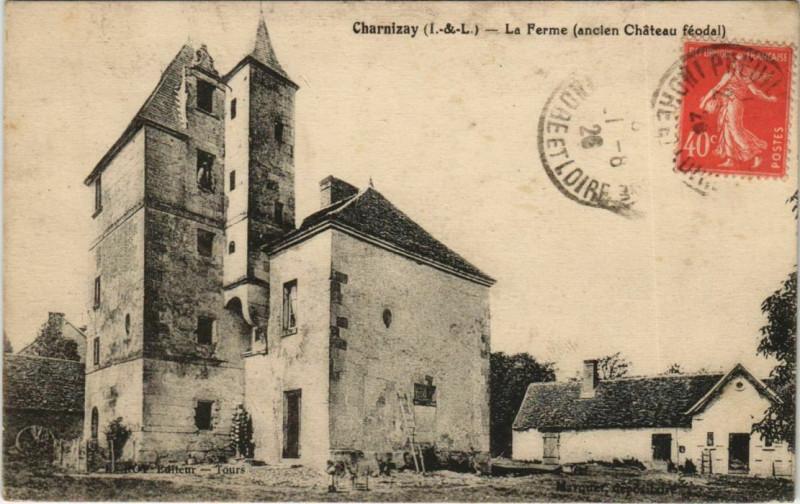 Carte postale ancienne Charnizay - La ferme à Charnizay