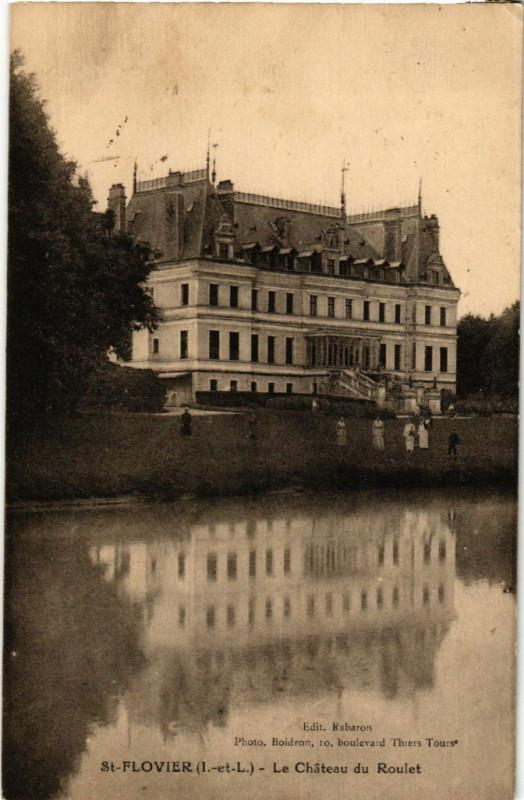 Carte postale ancienne Saint-Flovier - Le chateau du Roulet à Saint-Flovier
