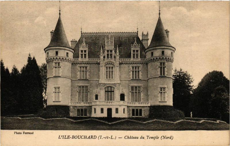 Carte postale ancienne L'Ile-Bouchard - Chateau du Temple (Nord) à L'Île-Bouchard