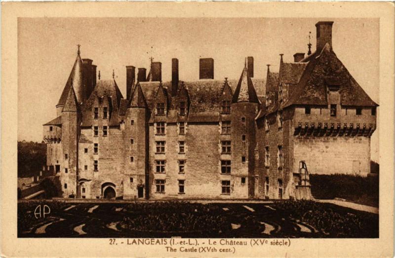 Carte postale ancienne Langeais - Le Chateau (Xv siécle) - The Castle à Langeais