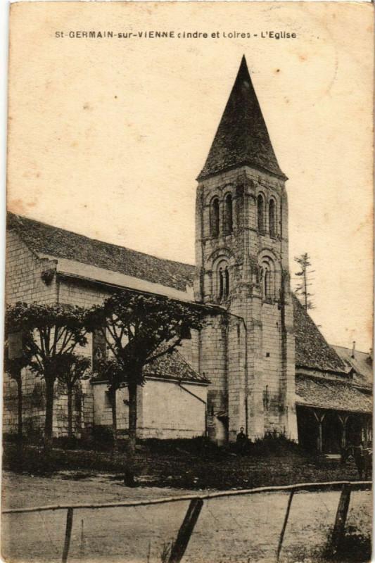 Carte postale ancienne Saint-Germain-sur-Vienne cindre et Loires - L'Eglise à Saint-Germain-sur-Vienne