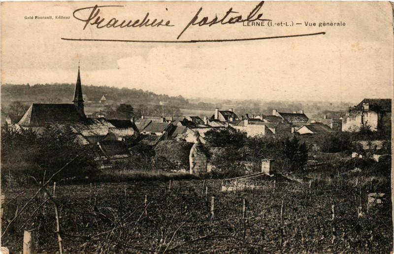 Carte postale ancienne Lerne - Vue générale à Lerné